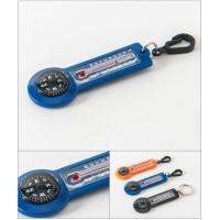Quality Outdoor Multicolor Promotional Camping Key Ring With Thermometer for sale