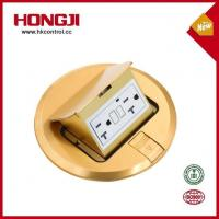 Sell Well Brass Round Pop up Floor Outlet Box with TR Receptacle
