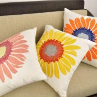Embroidery Sunflower Of Cushion Cover